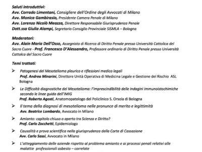"""Il """"diritto penale dell'amianto"""": 25 anni di processi per patologie asbesto correlate (Milano, 3 maggio 2017)"""