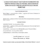 La rilevanza delle valutazioni estimative nel diritto penale dell'economia. Riflessioni in tema di false comunicazioni sociali e reati tributari (Milano, 15 giugno 2017)
