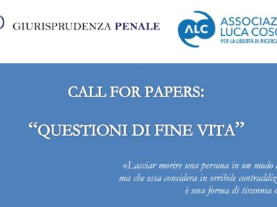 Questioni di fine vita (Call for papers)