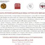 Giornata internazionale dell'avvocato minacciato (24 gennaio 2019, Venezia)