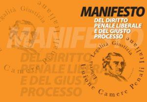 Manifesto del diritto penale liberale e del giusto processo (Unione delle Camere Penali Italiane)