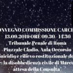 Aiuto al suicidio e rilievo costituzionale della dignità nella morte: la disobbedienza civile di Marco Cappato in attesa della Consulta (Roma, 13 settembre 2019)
