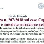 L'Ordinanza n. 207/2018 sul caso Cappato: dignità e autodeterminazione nel morire (Milano, 18 settembre 2019)