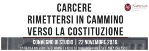 """La danza immobile. Intervento al convegno """"Carcere. Rimettersi in cammino verso la costituzione."""" (Università La Sapienza di Roma, 22 novembre 2019)"""