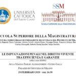 Le impugnazioni penali nel diritto vivente tra efficienza e garanzie (Milano, 20 febbraio 2020)