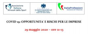 Covid-19: opportunità e rischi per le imprese (29 maggio 2020).